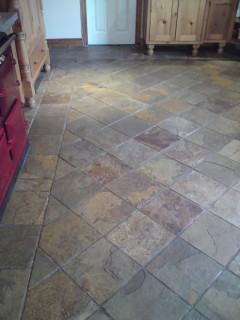 Slate tile cleaning before