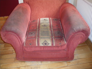 Red Sofa before